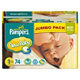 Pampers New Baby Size 1 Newborn Jumbo Pack Picture