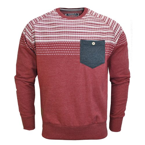Tokyo Tigers Torsby Aztec Patch Sweatshirt Jumper Top Claret Red Mens Size L