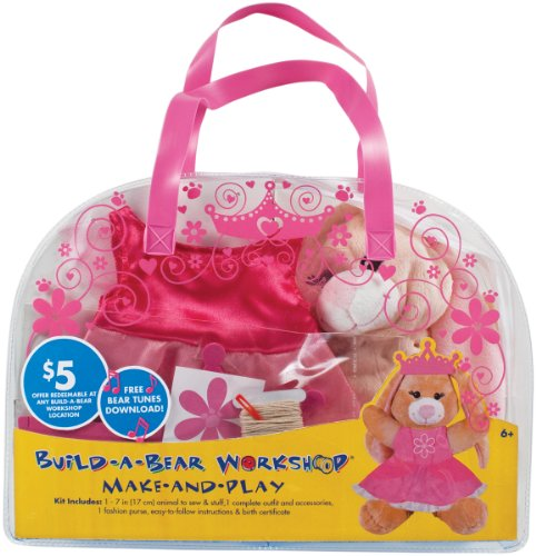 Colorbok Build A Bear Kit, Tan Swirl Bunny Princess front-288725