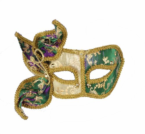 Forum Magic Color Mardi Gras Deluxe Half Mask