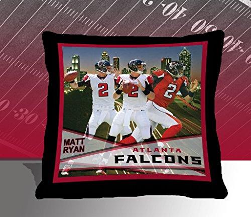 Nfl Biggshots Bedding - Atlanta Falcons Matt Ryan Toss Pillow, 18-Inch front-410042