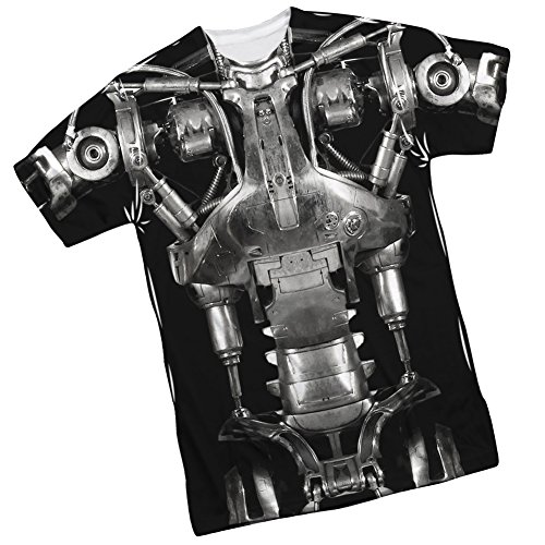 [Endoskeleton Costume -- The Terminator Front/Back Sports Fabric T-Shirt, Large] (Cameron Terminator Costume)