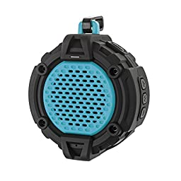 BlueFire Waterproof Bluetooth Speaker, Outdoor Portable Wireless Bluetooth 4.0 Dustproof Rugged Wireless Speaker, Powerful Sound with built-in Microphone & Snap Hook(Blue)