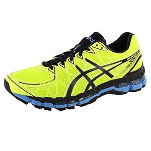 ASICS Men's Gel-Kayano 20 Running Shoe,Flash Yellow/Black/Azur Blue,11.5 M US