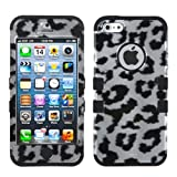 Product B00A3JMG0A - Product title MYBAT IPHONE5HPCTUFF2DIM020NP Premium TUFF Case for iPhone 5 - 1 Pack - Retail Packaging - Black Leopard (2D Silver)/Black