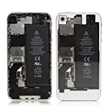 iPhone4S バックパネル・クリア(ホワイト)
