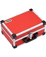 Ironside Mallette à outils en aluminium (Rouge)