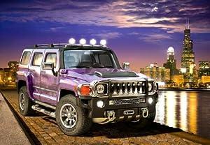 amazoncom castorland hummer h3 purple city night scene
