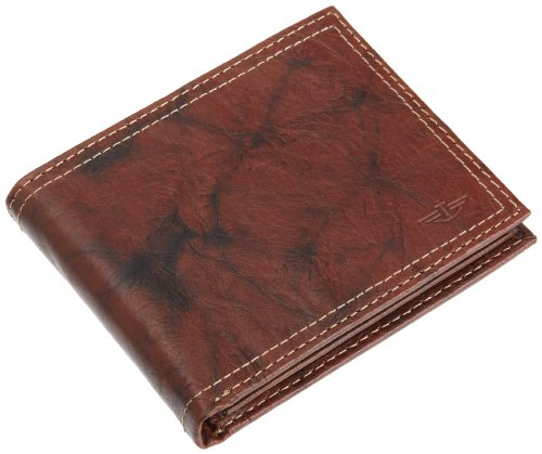 Dockers Mens Extra Capacity Slimfold Leather Wallet, Brown, One Size