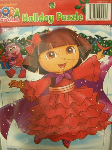 Dora the Explorer Holiday Puzzle ~ Dora and Boots at Christmas