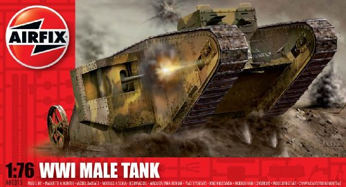 Airfix A01315 1:76 Scale WWI Male Tank Military Vehicles Classic Kit Series 1 (1 25 Scale Tank Model Kit compare prices)