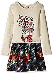 UFO Girls' Dress (AW16-KF-GKT-338_Beige_4 - 5 years)