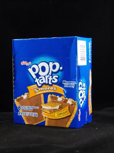 Kellogg's Pop Tarts Frosted S'mores Toaster Pastries Six 2 Packs Per Box (Pack of 3)