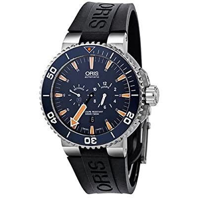 Oris Men's 74976637185RS Aquis Analog Display Swiss Automatic Black Watch