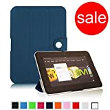 Fintie Navy Blue Magnetic Tri-Fold Lightweight Slim Shell Case with Auto Sleep/Wake Feature for Amazon Kindle fire HD 7-Inch Tablet ~ Fintie
