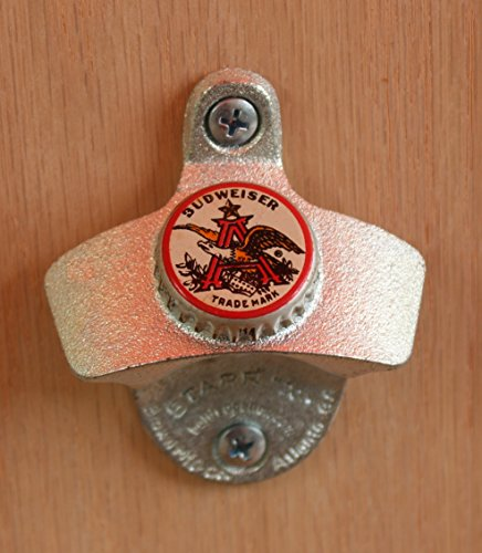 Budweiser Trade Mark Cap Starr X Wall Mount Bottle Opener