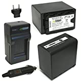 Wasabi Power Battery (2-Pack, 7800mAh) and Charger for Panasonic VW-VBD58, VW-VBD78 and Panasonic AG-3DA1, AG-AC8, AG-DVC30, AG-DVX100, AG-HPX171, AG-HPX250, AG-HPX255, AG-HVX201, AJ-PCS060, AJ-PX270, AJ-PX298, HC-MDH2, HC-X1000, HDC-Z10000