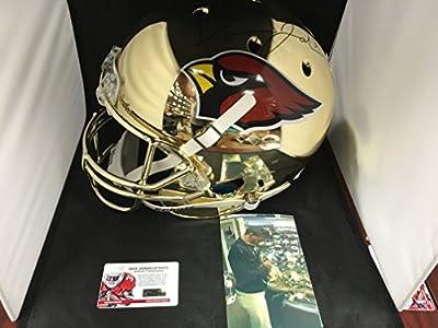 David Johnson Autographed Signed Arizona Cardinals UNI Gold Chrome Limited Edition Full Size Helmet COA & Hologram