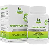 Nature's Fruit Hair Growth+, Best Vitamins for Hair Growth & Anti-Aging. Natural Stimulator with Biotin for Stronger Nails & Radiant Skin. Helps Rebuild Keratin & Collagen! (60 Capsules,30 Servings)