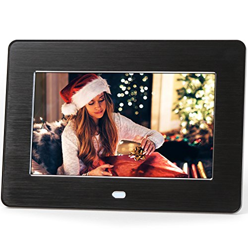 Micca M707z 7-Inch 800x480 High Resolution Digital Photo Frame With Auto On/Off Timer, MP3 and Video Player (Black) (Photo Digital Album compare prices)