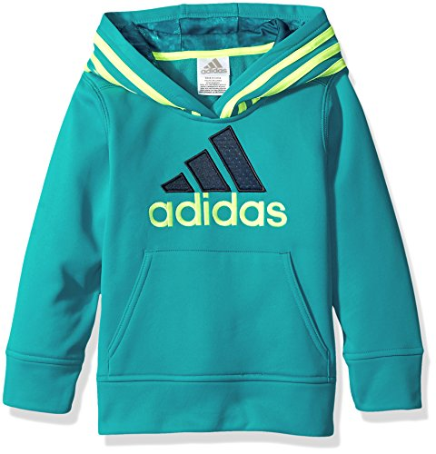 adidas Little Boys' Athletic Pullover Hoodie, Tile Blue, 5