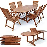 SSITG Sitzgruppe Sitzgarnitur Holz Gartengarnitur Gartenmöbel Klappstühle