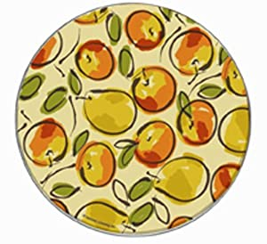 Range Kleen Hallmark Design Set of Four Burner Kovers, Fruit Explosion