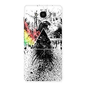 Premium Prism Eagle Multicolor Back Case Cover for Redmi 2