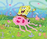 Brewster 147-71157 Nickelodeon SpongeBob Jellyfish Wall Mural