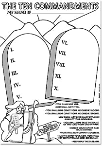coloring pages on the 10 commandments | Amazon.com - The Ten Commandments Coloring Paper Poster ...