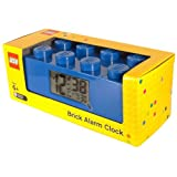LEGO Kids 9002151 Blue Plastic Alarm Brick Clock
