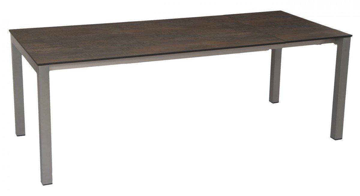 Dreams4Home Gartentisch 'Sharon I' – Tisch, Gartentisch, ausziehbarer Tisch, Gartenmöbel, ausziehbar, B/H/T: 100 x 76 x 200 (260) cm, hochwertiges Aluminiumgestell, in graphit online kaufen
