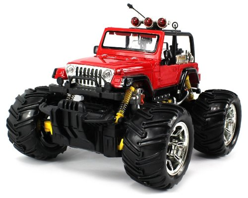 Jeep Wrangler Electric RC Truck 1:16 Scale Big Size Off Road Monster Truck RTR Ready To Run, High Quality (Colors May Vary)