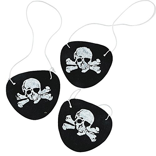 Adorox Felt Pirate Eyepatches Party Favors Costume