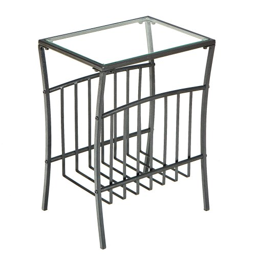 SEI Contemporary Metal Magazine Table