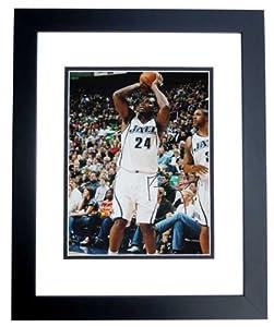 Paul Millsap Autographed  Hand Signed Utah Jazz 11x14 Photo - BLACK CUSTOM FRAME by Real Deal Memorabilia
