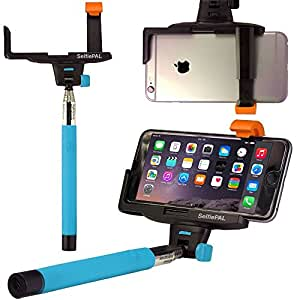 blue selfie stick mobily ipic pro rechargeable wireless self portrait extendable. Black Bedroom Furniture Sets. Home Design Ideas
