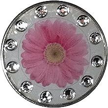 BELLA Swarovski Crystal Exchange Ball Marker amp Hat Clip - Daisy Pink Clear