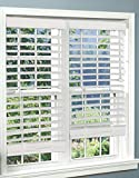 DEZ Furnishings Faux Wood Blind, 2-Inch, White - 20