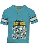 Marvel Kids Buttoned T Shirt Infants Boys Short Sleeved Print Design Top