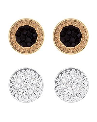 My Silver Pendientes Duo Creca Diamantada