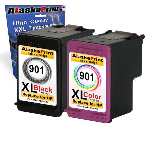 Set 2x Druckerpatronen Tintenpatronen Ersatz für Hp 901 XL