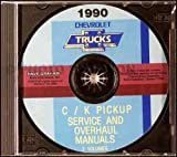 1990 CHEVY - CHEVROLET C-Series & K-Series 1500-3500 PICKUP TRUCK REPAIR SHOP & SERVICE MANUAL CD Standard, Cheyenne, Scottsdale, Silverado