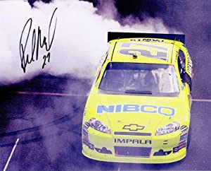 Buy AUTOGRAPHED 2011 Paul Menard #27 BRICKYARD WIN (First Win) BURNOUT 8X10 NASCAR SIGNED Glossy Photo w  COA by Trackside Autographs