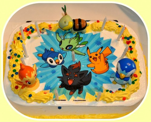 Edible Cake Images Pokemon : Amazon.com: Pokemon Edible Image Cake Topper: Kitchen & Dining