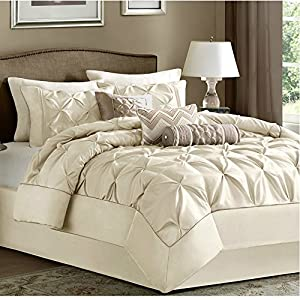 king size 7 piece comforter set ivory