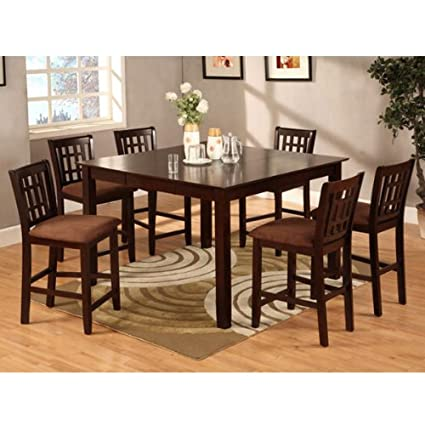 Eleanor 9-Piece Espresso Finish Counter Height Dining Set