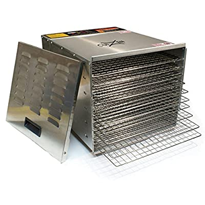 CuiZen CFD-2040CS Professional 10-Tray Stainless Steel Dehydrator by Telasia Inc.