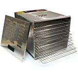 CuiZen CFD-2040CS Professional 10-Tray Stainless Steel Dehydrator