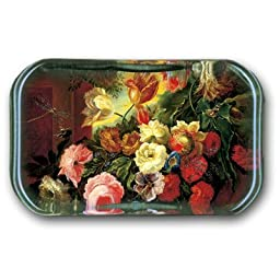 Dragonflies Amidst Blossoming Flowers - Rectangle Glass Paperweight (2-1/2\